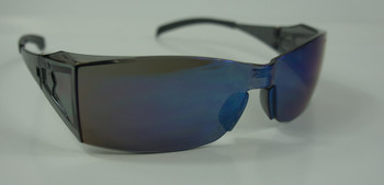 99-T9100-BM  - BLUE MIRROR LENS  SAFETY GLASSES -BLADE