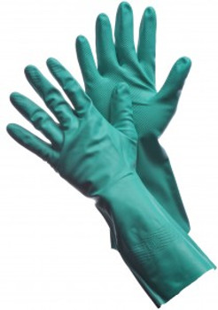 "41-0058  - 15 MIL - 13"" UNLINED GREEN NITRILE  UNSUPPORTED DISPOSABLE GLOVES"