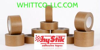 48mm x 50m Hystik Kraft Lt Tan Flatback Tape 24/cs 8854850