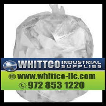 Trash Bags Natural 40x48 16 micron S404816N 45 gallon (