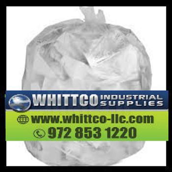 S334016N Inteplast Trash Bags 33 gallon 16 micron Natural S334016N