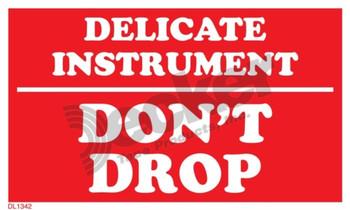 DL1342 Delicate Instruments Labels