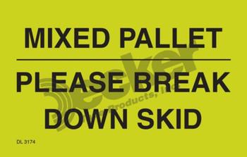 DL3174 Pallet Protection Labels