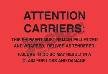 DL3181 Pallet Protection Labels