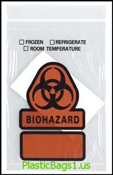 B100 Biohazard Printed 3 Wall With Absorbent Pad 6x9 RD Plastics