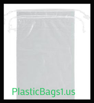 G102 Clear Double Drawstring Bags 8x10 RD Plastics