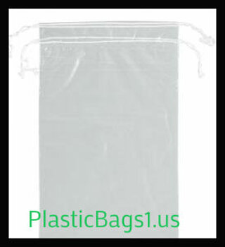 G104 Clear Double Drawstring Bags 10x14 RD Plastics