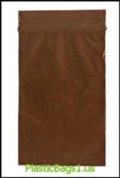 Q203 Amber Reclosable Bags 6x8 RD Plastics