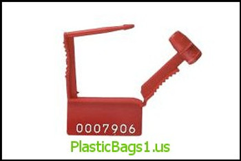 R65 Metal Barrel Padlock Security Seals Heavy Duty red(plain) RD Plastics