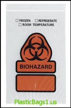 B20 Biohazard Printed 3 Wall Reclosable Bags 12x12 RD Plastics