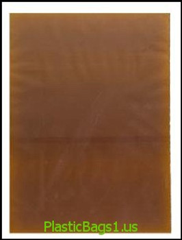 C33 Amber Open End Bags 8x14 RD Plastics