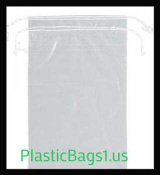 G100 Clear Double Drawstring Bags 5x8 RD Plastics