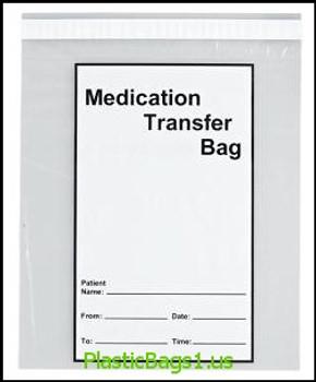 G112 Medication Transfer Bags 8x10 RD Plastics
