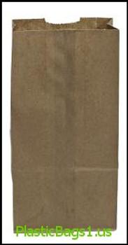 G306 Brown Paper Bags 5x3.25x9.5(4b) RD Plastics