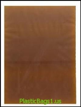 K70 Amber Open End Bags 3x9 RD Plastics