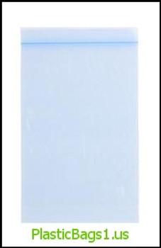 Q129 Tinted Blue Reclosable Bags 6x9 RD Plastics