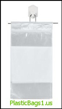 S73 Snap-N-Fill White Block Reclosable Bags 5x8 RD Plastics