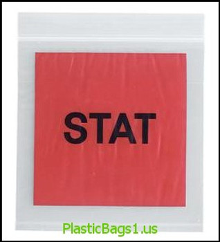 B30 Stat Printed 3 Wall Reclosable Bags 6x6 RD Plastics