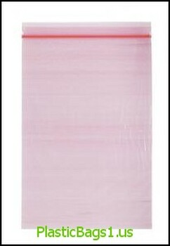 Q104 Tinted Pink Reclosable Bags 9x12 RD Plastics