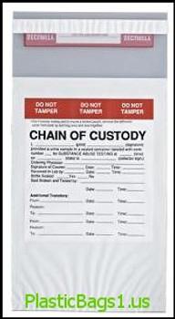 G121 Chain of Custody Tamper Evident 6x10 RD Plastics