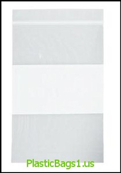 B21 Clear 2 Mil Reclosable Bags With White Block For Writing 8x10 RD Plastics