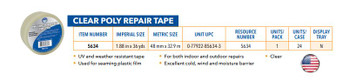 Clear Poly Repair Tape 48mm x 33M