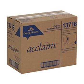 GPC13718 Acclaim Jumbo Jr. Bathroom Tissue, White, 2000 Ft. Per Roll, Case Of 8 Rolls