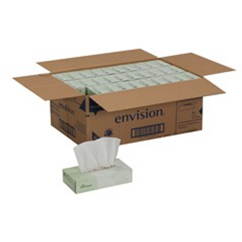 Envision 100% Recycled Economy Facial Tissue, 100 Sheets Per Box, Case Of 30