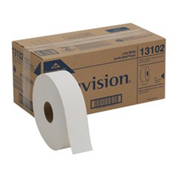 Georgia-Pacific 2-Ply Bathroom Tissue, 2000' Roll, Case Of 6 Rolls