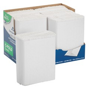 """GP PRO Professional Series Convenience Pack 1-Ply Premium C-Fold Paper Towels, 10"""" x 13"""", White, 200 Sheets Per Pack, Case Of 6 Packs"""