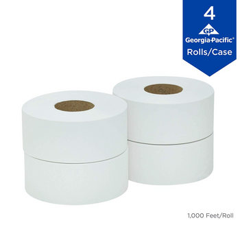 GP PRO Professional Series Convenience Pack Jumbo Jr. Roll 2-Ply Toilet Paper, 1000' Roll, Case Of 4 Rolls
