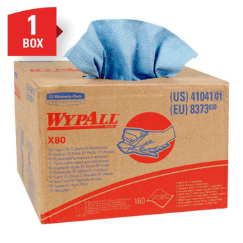 Kimberly-Clark Professional Wipers Wypall X80 Brag Box , Box Of 160