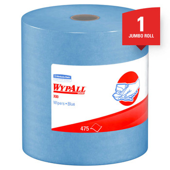 """Kimberly-Clark Professional Wypall Wipers, 12 1/2"""" x 13 7/16"""", Blue, 475 Sheets"""