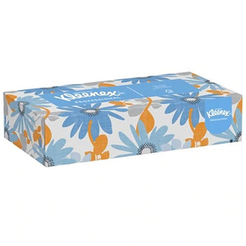 Kimberly-Clark Zip-Half Pack Facial Tissue, 125 Sheets Per Box, Case Of 12 Boxes