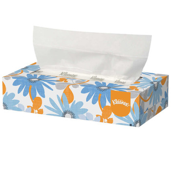 "Kleenex FSC Certified 2-Ply Facial Tissue Pop-Up Boxes 8 1/4"" x 8 1/2"" White 100 Tissues Per Box Carton Of 36 Boxes"