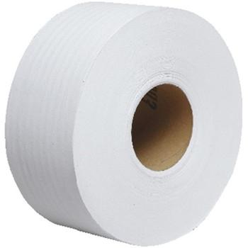 Scott Jumbo 2-Ply Bathroom Tissue, Unperforated, 1,000' Per Roll, White, Case Of 12 Rolls