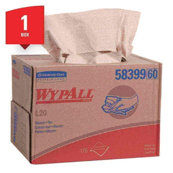 Wypall L20 Wipers, Natural 176/box