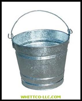 10QT GALVANIZED WATER PAIL|10QT|455-10QT|WHITCO Industiral Supplies
