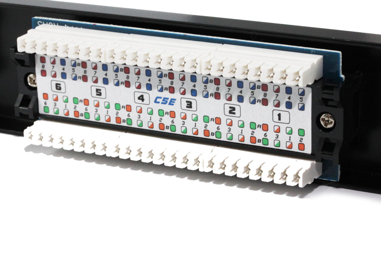 24 Port CAT5E Patch Panel ( UL-Listed )