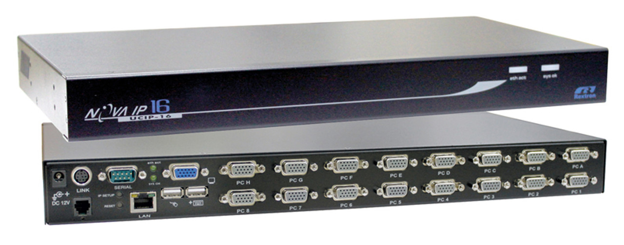 Rextron 16-Port USB Console IP KVM