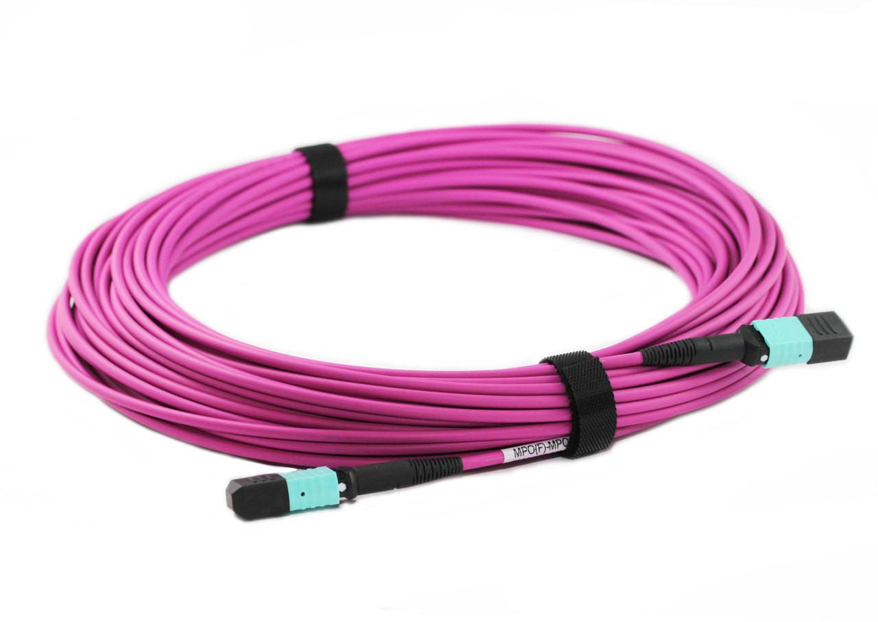 20M 12 Core MPO Female to Female OM4 Fibre Trunk Cable, Type B