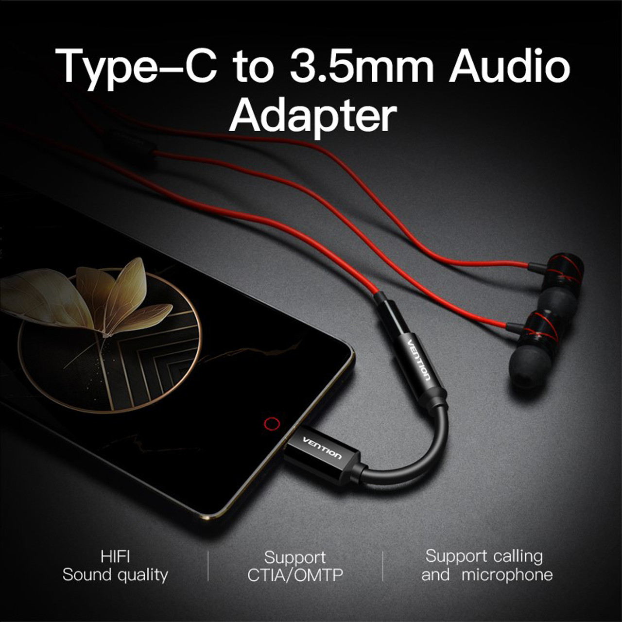 10CM Type-C to 4Pole TRRS 3.5MM Audio Adaptor
