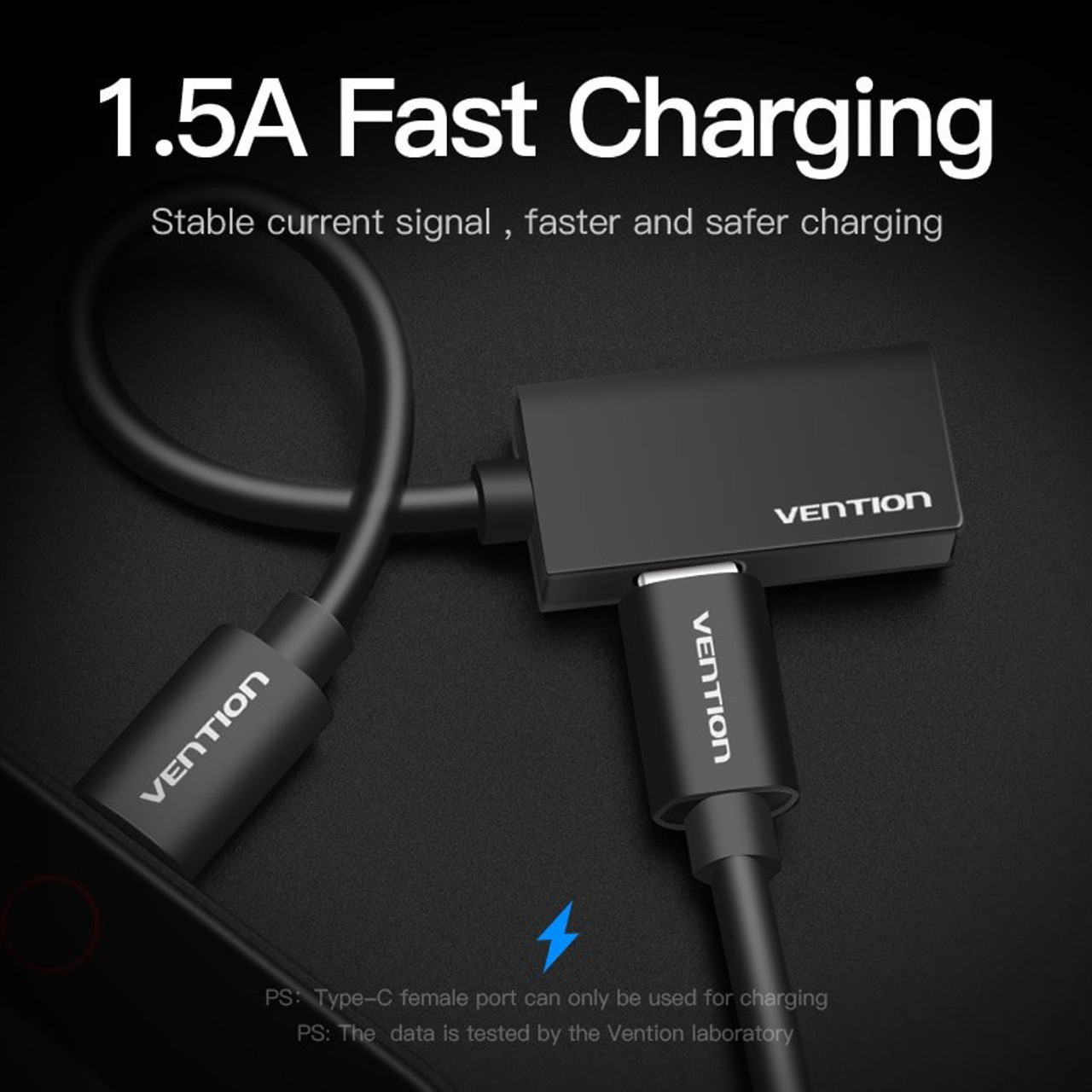 10CM USB Type C to 4Pole 3.5mm Adaptor with Type-C Charge Port