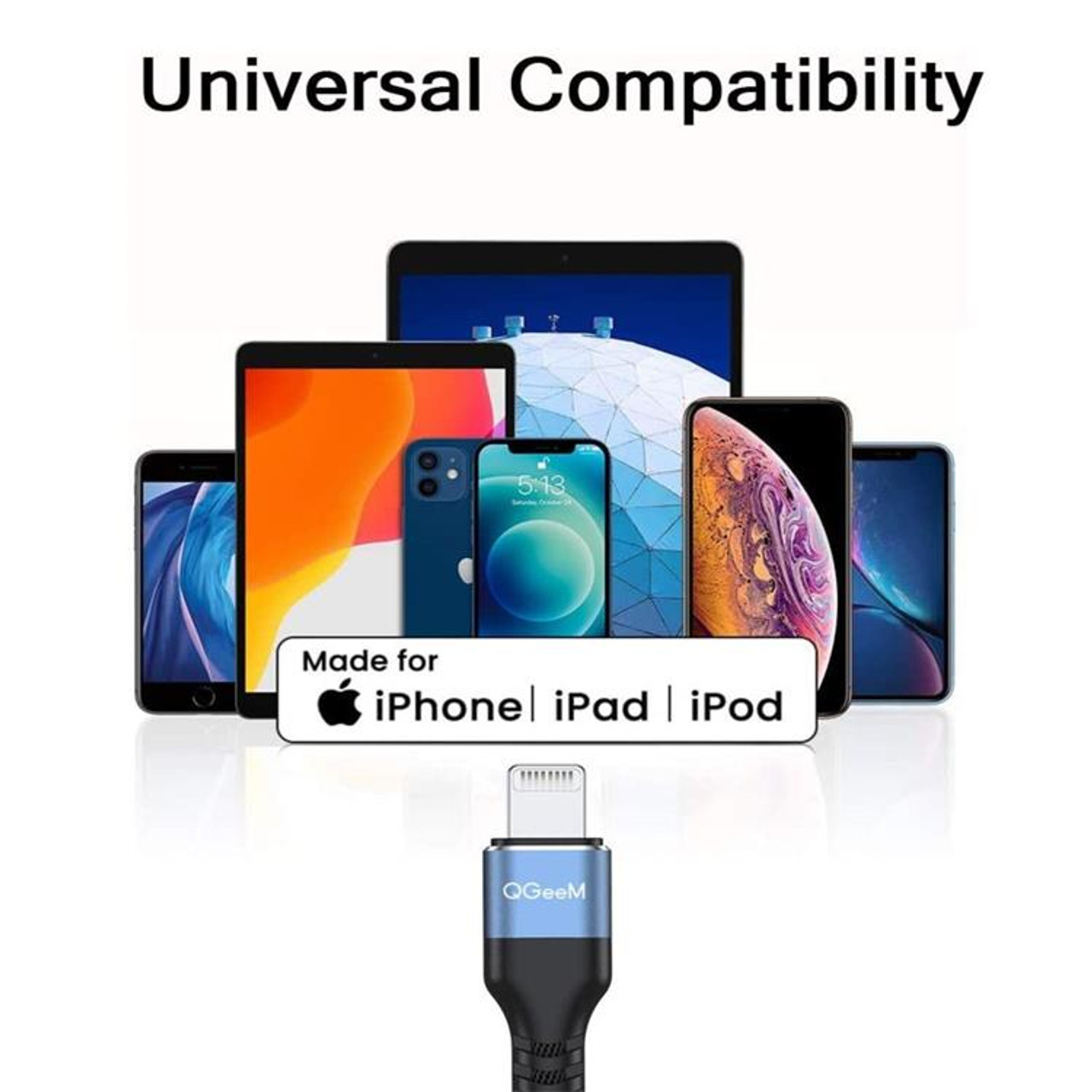 2M Apple MFI Certified USB to Lightning Cable