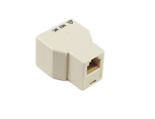 RJ12 6P6C 3 Way Coupler