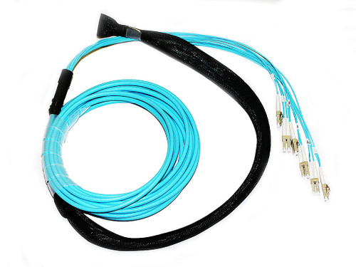 15M 12 Core OM3 LC-LC Pre-Terminated Cable