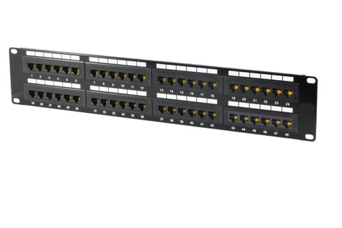 48 Port 2RU CAT5E Patch Panel ( UL-Listed )