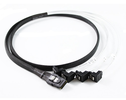 1M Mini SAS to 4 x Right Angle SATA Cable