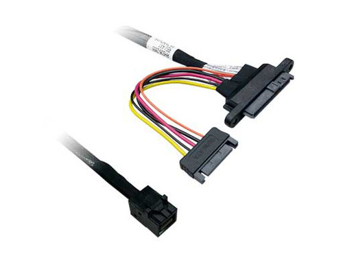 50CM 12G Internal Mini SAS HD SFF-8643 to U.2 Plug SFF-8639 + SATA Cable
