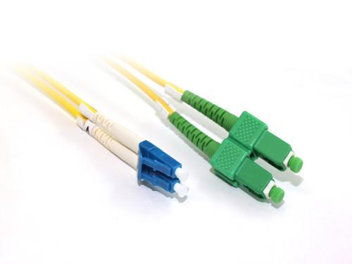 15M LC-SCA OS1/OS2 9/125 Singlemode Duplex Fibre Patch Cable